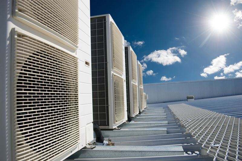 air-conditioning-units-sunny-roof